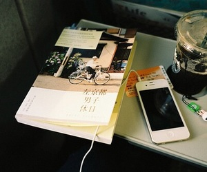 book, coffee, and iced coffee image