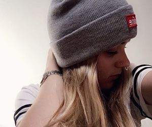 blonde, girl, and nose piercing image