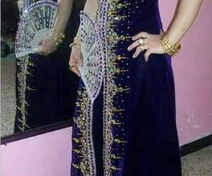 dress, algerian fashion, and algerian dress image