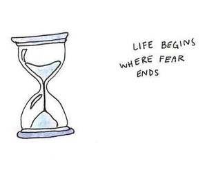 life, quote, and fear image
