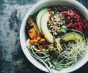 avocado, grain, and healthy image
