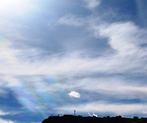 Bolivia, clouds, and iridescent image