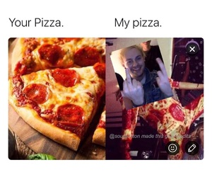 pizza, 5sos, and michel clifford image