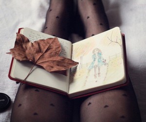 book, vintage, and autumn image