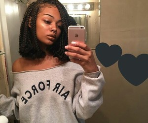 girl, sitemodel, and blackgirl image