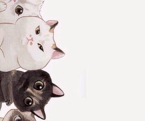 cat, lockscreen, and pastel image