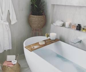 bathroom, luxury, and calm image