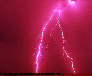 pink, lightning, and nature image