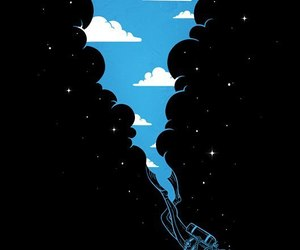 sky, diver, and stars image
