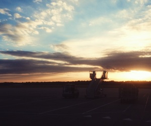 airport, sunset, and eindhoven image