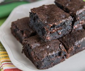 desserts, brownies, and chocolate image