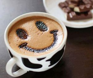 smile, coffee, and chocolate image