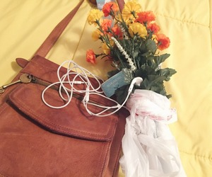 aesthetic, flowers, and bag image