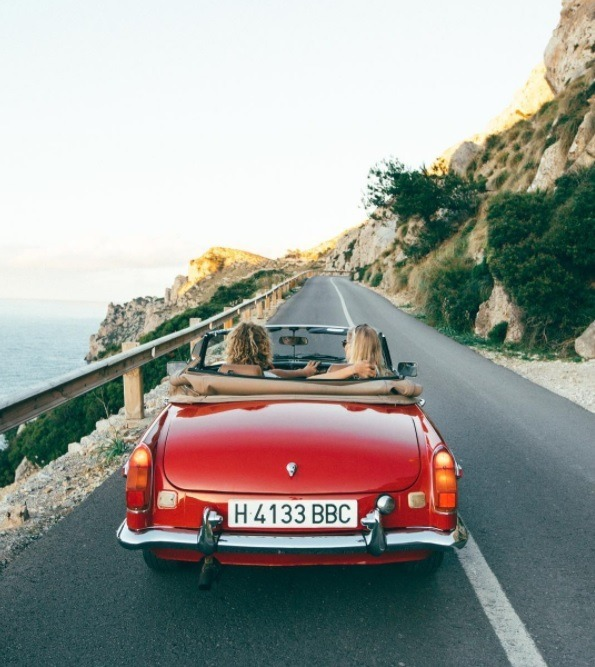 car, travel, and red image