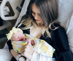 baby, girl, and mom image