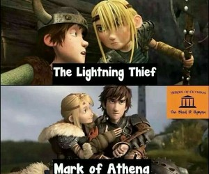 astrid, hiccup, and percabeth image