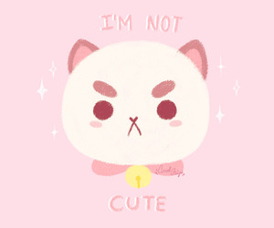 cute, pink, and puppycat image