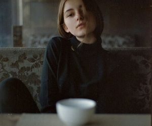 girl, coffee, and photography image