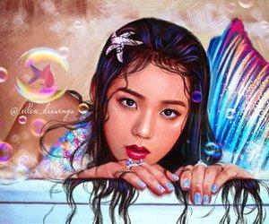 blackpink, jisoo, and mermaid image