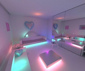 room, light, and neon image