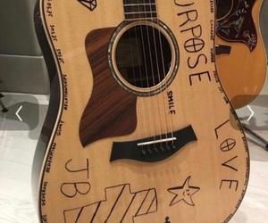 guitar, justin bieber, and instrument image