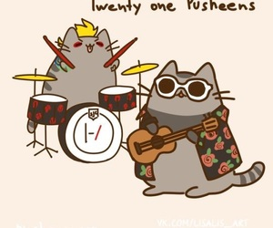 pusheen and twenty one pilots image