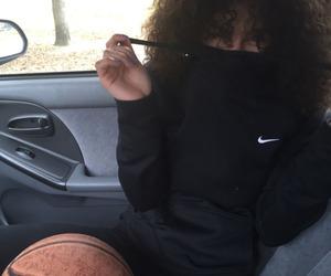 nike, Basketball, and curly image