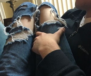 couple, jeans, and Relationship image