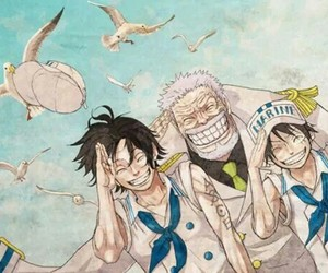 one piece, marine, and ace image