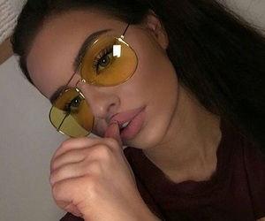 aviators, babe, and glasses image