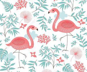 flamingos, pattern, and wallpaper image