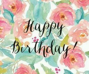 birthday, flowers, and wish image