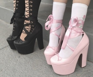 pink, black, and shoes image