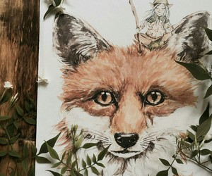 fairy tale, watercolor, and fox image