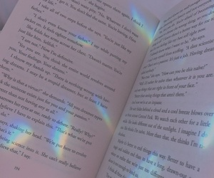 book, rainbow, and aesthetic image