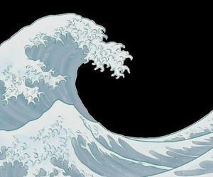 waves and transparent image