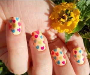 cute, flower, and nail image