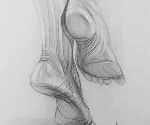 artwork, drawing, and feet image