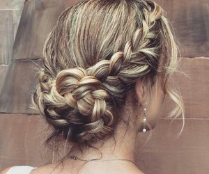 blond, hairstyle, and curl image