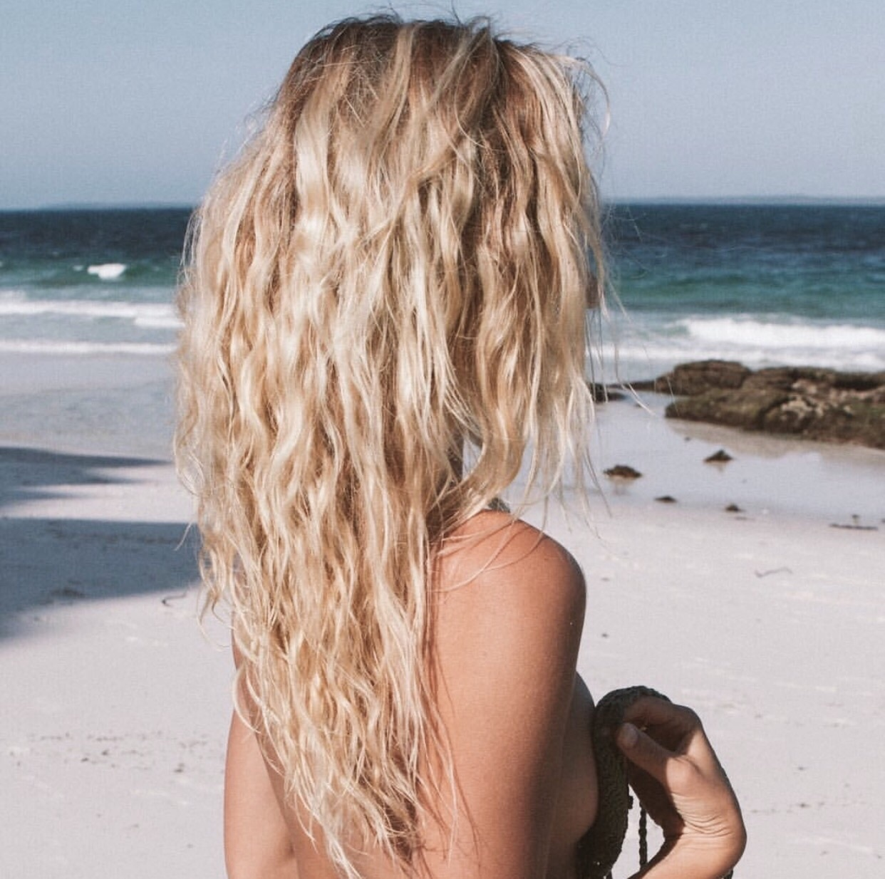 blonde, hair, and beach image