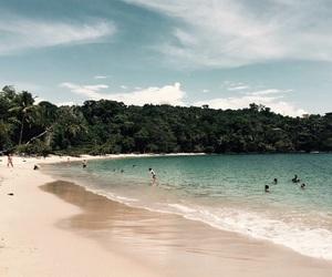 beach, costa rica, and Island image