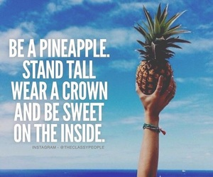 crown, pineapple, and quote image