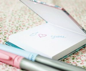love, pastel, and I Love You image