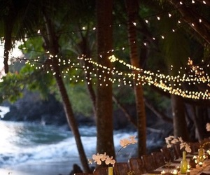 beach and lights image