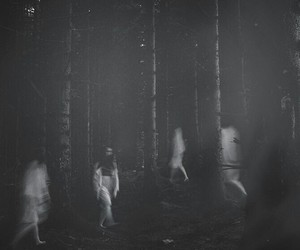 atmospheric, ghost, and black and white image
