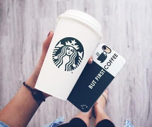 in love, 😍, and starbucks image