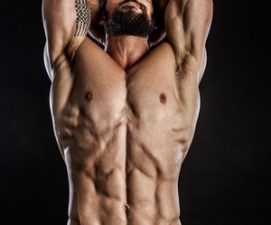 beard, in love, and muscle image