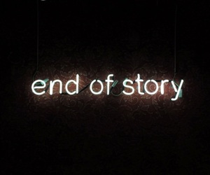 neon, light, and end image