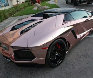 car, fast, and rose gold image