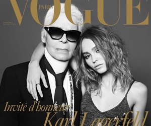 karl lagerfeld, fashion, and vogue image
